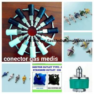 Konektor Adapter Outlet Gas Medis