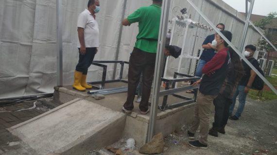 Kontraktror Gas Medis Rumah Sakit Darurat COVID di Pasaman Barat Sumatra Barat
