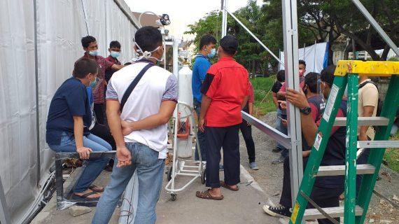 Kontraktor Gas Medis Rumah Sakit Darurat COVID di Tanah Laut Kalimantan Selatan